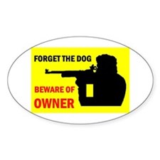 BEWARE OF OWNER Oval Decal