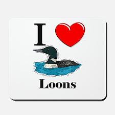 I Love Loons Mousepad