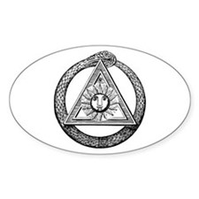 Scottish Rite Mason Oval Decal