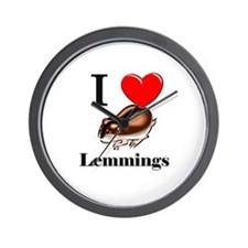 I Love Lemmings Wall Clock