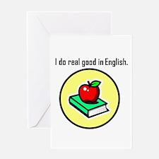 Englush Scholar Greeting Card