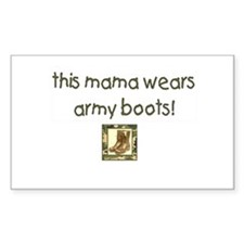 Military Mom Rectangle Decal