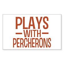 PLAYS Percherons Rectangle Decal