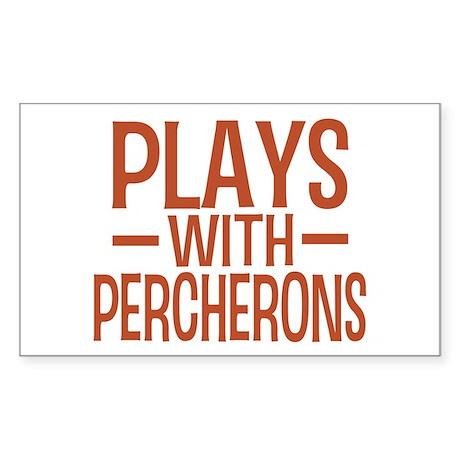 PLAYS Percherons Rectangle Sticker