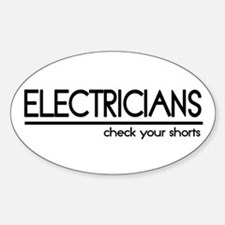 Electrician Joke Oval Decal