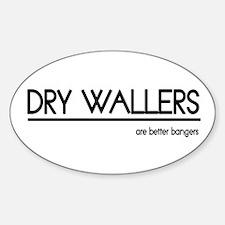 Dry Waller Joke Oval Decal
