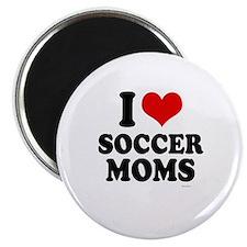 I Love Soccer Moms ~ Magnet