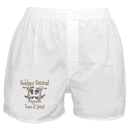 Goat Kidding Season Boxer Shorts