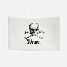 Weaver - Skull and Crossbones Rectangle Magnet