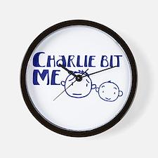 Charlie Bit Me Wall Clock