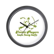 Tennis players have fuzzy balls ~  Wall Clock