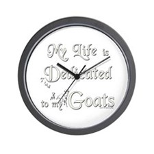 Dedicated to Goats Wall Clock