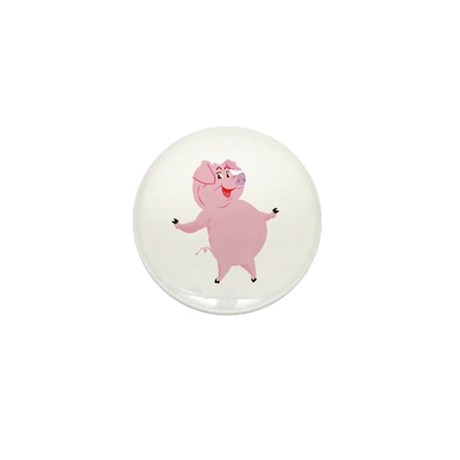 Dancing Pig Mini Button