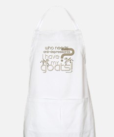 Goat Therapy BBQ Apron