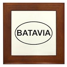 Batavia New York European Oval Framed Tile