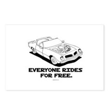 Everyone rides for free ~  Postcards (Package of 8