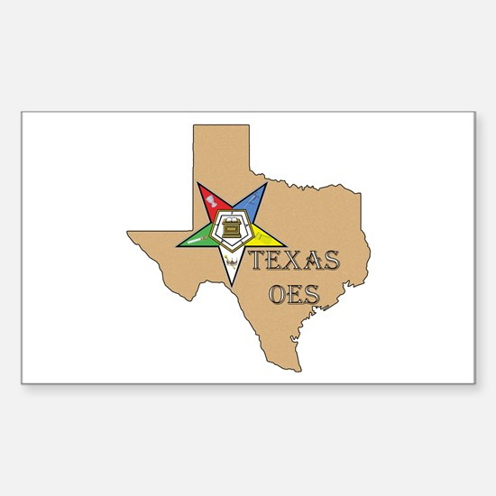 OES Texas Rectangle Decal