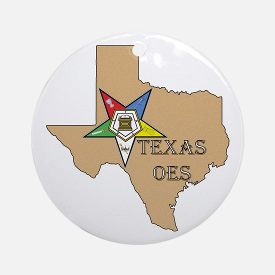 OES Texas Ornament (Round)