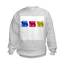 Color Row Border Collie Sweatshirt