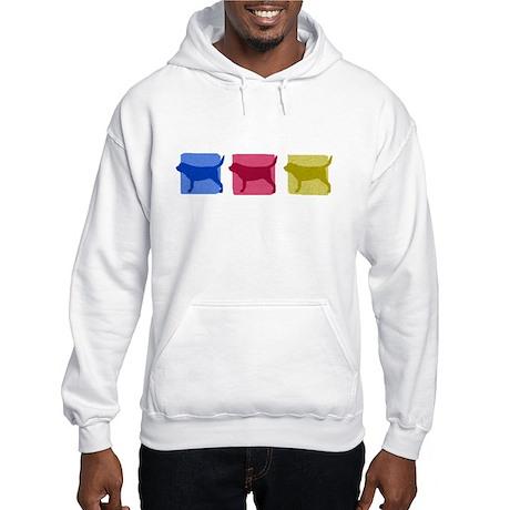 Color Row Bloodhound Hooded Sweatshirt
