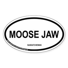 Moose Jaw Oval Decal