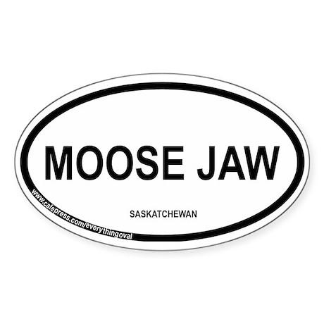 Moose Jaw Oval Sticker