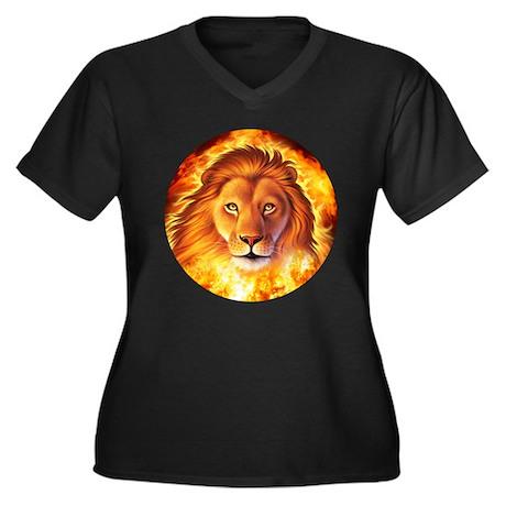 Lion 1 Women's Plus Size V-Neck Dark T-Shirt