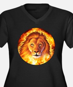 Lion 1 Women's Plus Size V-Neck Dark T-Shirt