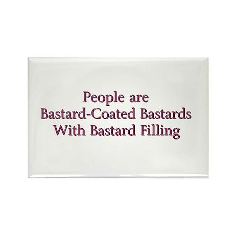 Bastard-Coated Bastards Rectangle Magnet