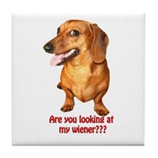 Unique Wiener dog Tile Coaster