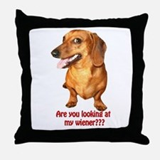 Cute Daschund Throw Pillow