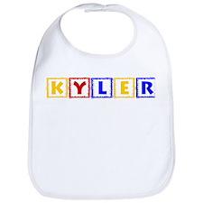KYLER (primary squares) Bib