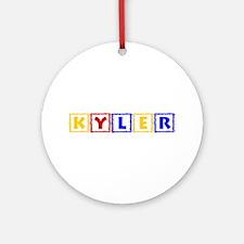 KYLER (primary squares) Ornament (Round)
