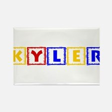 KYLER (primary squares) Rectangle Magnet