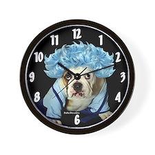 Monday Morning Bulldog Wall Clock