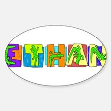 ETHAN (gators) Oval Decal