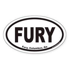 Fury, Columbus, Ga Euro Oval Decal