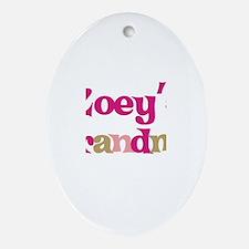 Zoey's Grandma Oval Ornament