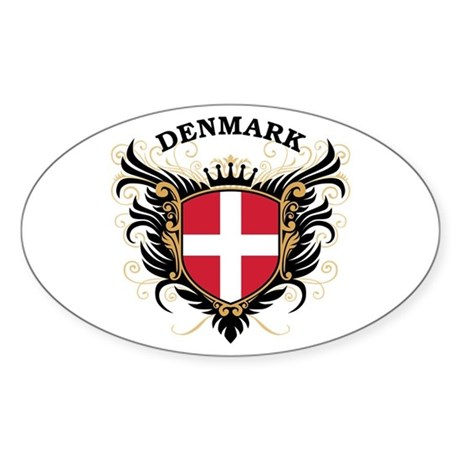 Denmark Sticker (Oval)