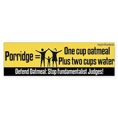 Porridge recipe bumper sticker