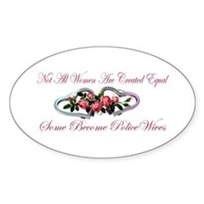 Become PoliceWives - Pink Ros Oval Decal