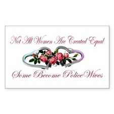 Become PoliceWives - Pink Ros Sticker (Rectangular