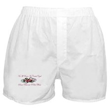 Become PoliceWives - Pink Ros Boxer Shorts
