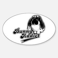 Bunny Addict Oval Decal