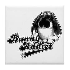 Bunny Addict Tile Coaster