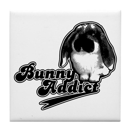Bunny Addict Tile Coaster