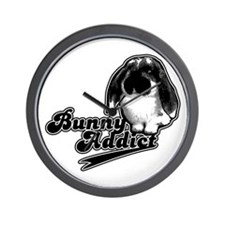 Bunny Addict Wall Clock