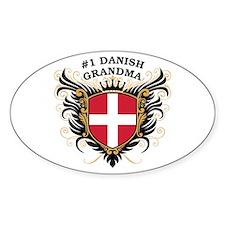 Number One Danish Grandma Oval Decal