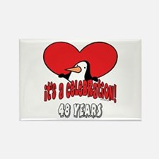 48th Celebration Rectangle Magnet