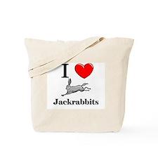 I Love Jackrabbits Tote Bag